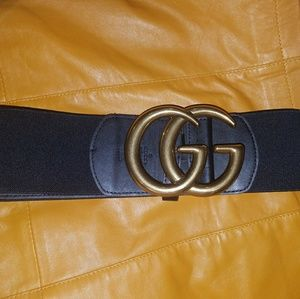 GG buckle belt black stretch belt fits many sizes